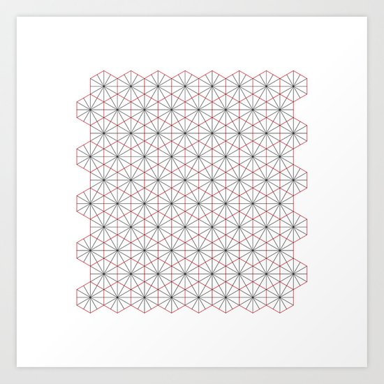 #326 Triagons/Hexangles – Geometry Daily Art Print