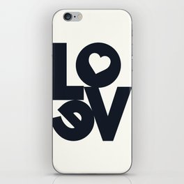Love, tyopgraphy illustration, gift for her, people in love, be my Valentine, Romantic lettering iPhone Skin