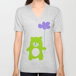 Green bear Unisex V-Neck