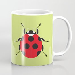 Lady Bug Yellow Coffee Mug