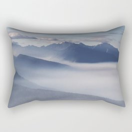 Olympic National Park from the Hurricane Ridge. Rectangular Pillow