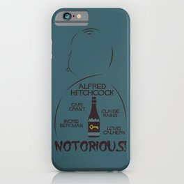 Notorious!, Alfred Htichcock, minimal movie poster, Cary Grant, Ingrid Bergman, classic cinema, film iPhone Case