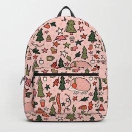 Hedgehog in Winter Print Backpack