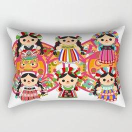 Mexican Dolls Rectangular Pillow