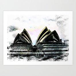 Sydney Opera House  Collection II Art Print