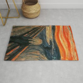The Scream by Edvard Munch Rug