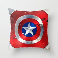 daenerys Throw Pillows featuring SHIELD by Smart Friend