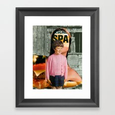 Check Your Head V1 (collaboration with the talented Marko Köppe) Framed Art Print