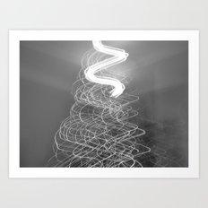 Christmas Tree lights. Art Print
