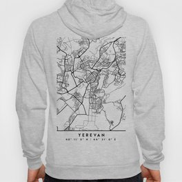 YEREVAN ARMENIA BLACK CITY STREET MAP ART Hoody