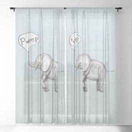 Cute elephant Sheer Curtain