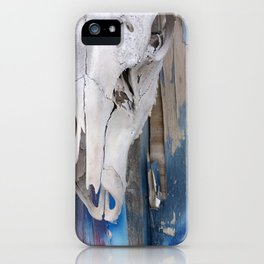 elk skull:colors iPhone Case