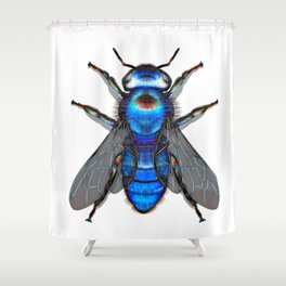 Be Blue Shower Curtain