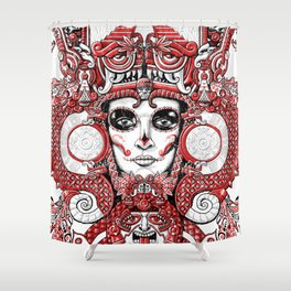 Red Serpent Queen Shower Curtain