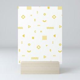 Yellow Memphis Pattern Mini Art Print