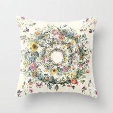Circle of Life Cream Throw Pillow