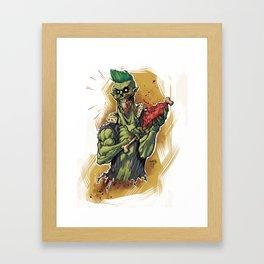 Yummy Zombie Framed Art Print