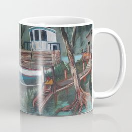 Barco en el muelle Coffee Mug