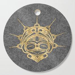 Gold Frog Smoke Cutting Board