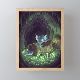 Radioactive Geckos Framed Mini Art Print