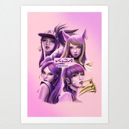 League of Legends KDA Akali, Ahri, Kai'Sa and Evelynn Art Print