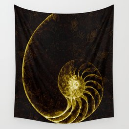 sacred geometry-shell mandala-nature-healing-energy-quantum Wall Tapestry