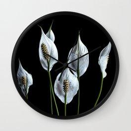 Peace Lilies Wall Clock