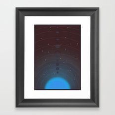 Halftone Blue Star Framed Art Print