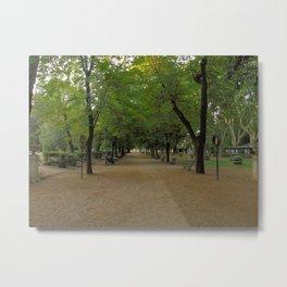 Passeggiata per Villa Borghese Metal Print