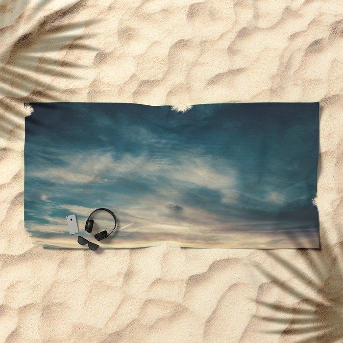 Summer Clouds Beach Towel