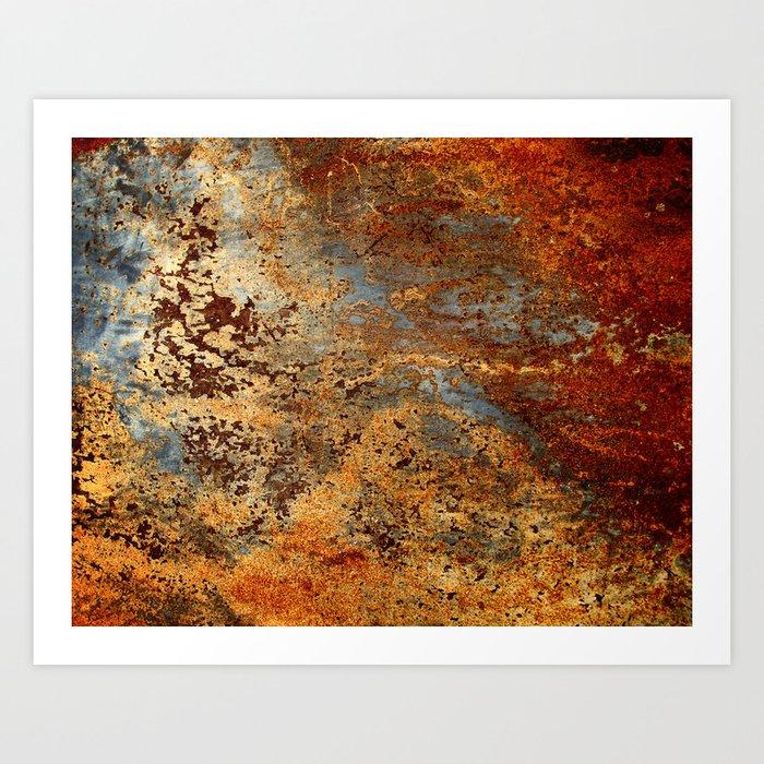 Beautiful Rust Art Print