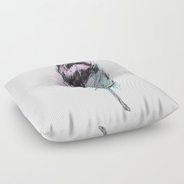 AP078 Watercolor feather Floor Pillow