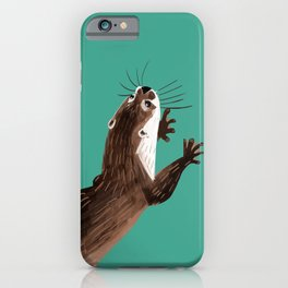 Asian small-clawed otter Marine iPhone Case
