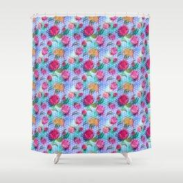 Australian Native Floral Print - Soft Colours Shower Curtain