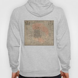 Vintage Map of Madrid Spain (1861) Hoody