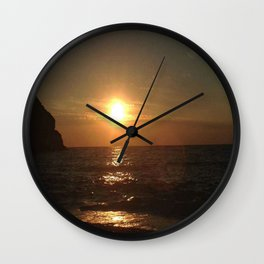 A Romantic Night at the Beach Wall Clock