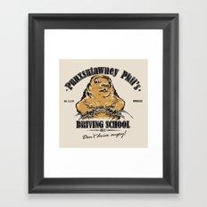 Punxsutawney Phil's Driving School Framed Art Print