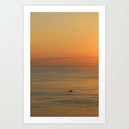 Dolphin with Beautiful Sunrise Art Print