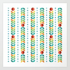 Simple flower Pattern Art Print