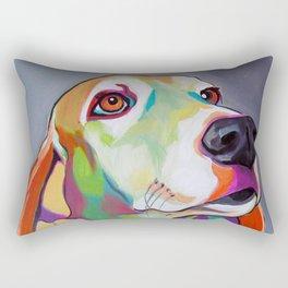 Millie the Basset Hound Rectangular Pillow