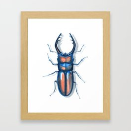Stag beetle Framed Art Print