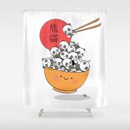 Save the pandas Shower Curtain