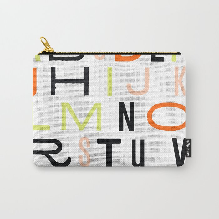Eclectic Alphabet Carry-All Pouch