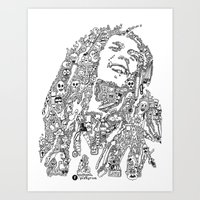 marley Art Prints featuring Marley by Ron Goswami