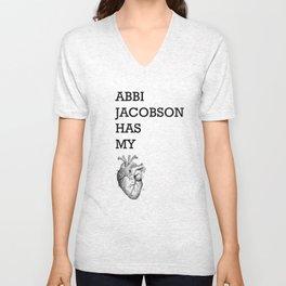 """Abbi Jacobson has my heart"" Unisex V-Neck"