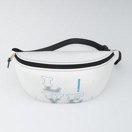 Love Police Flag Policeman Police Officer Cop Gift Fanny Pack