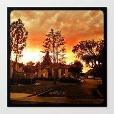 Sky at dusk. Canvas Print
