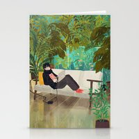 jungle Stationery Cards featuring jungle by Lara Paulussen