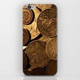 Cool Old Coins iPhone Skin