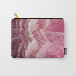 Rosey Rose Quartz Crystal Carry-All Pouch